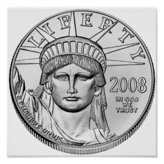 American Eagle Platinum Reverse Proof Coins Posters