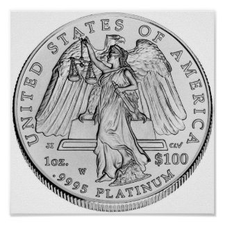 American Eagle Platinum Uncirculated Coin Poster