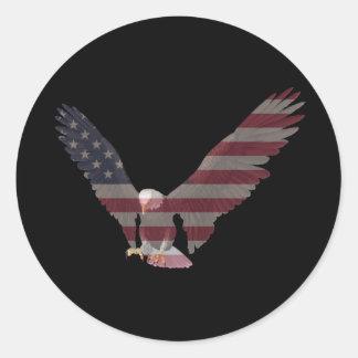 American Eagle Round Sticker