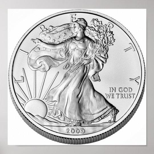 American Eagle Silver Bullion Coin Poster
