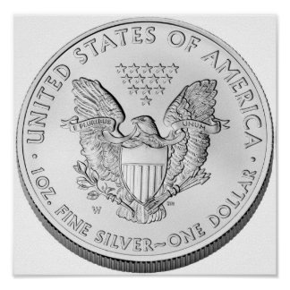 American Eagle Silver Uncirculated Coin Poster