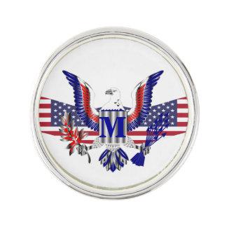 American eagle symbol lapel pin