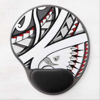 American eagle tribal tattoo design red gel mouse pad