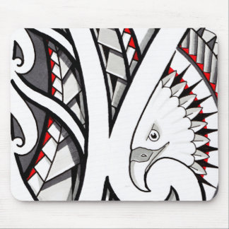 American eagle tribal tattoo design red mouse pad
