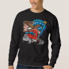 American Eagle Trucker Mens Black Sweatshirt