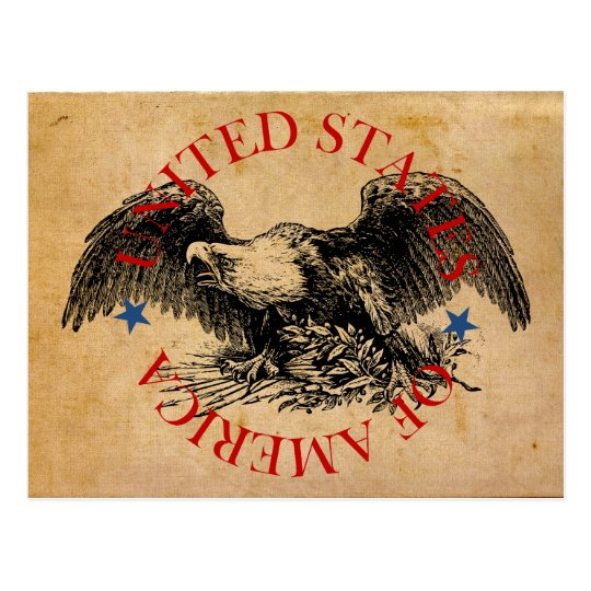 American Eagle: United States of America Postcard