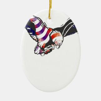 American Eagle USA National Flag Independence Memo Christmas Ornament