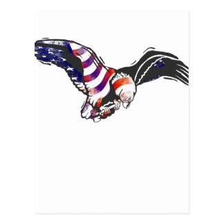 American Eagle USA National Flag Independence Memo Postcard