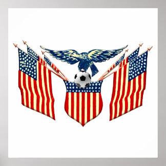 American Eagle Vintage US Soccer emblem Poster