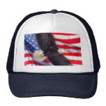 American Eagle with American Flag Cap Trucker Hat