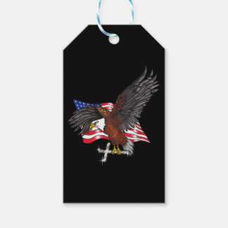 American Eagle with Cross Gift Tags