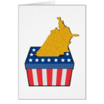 American election ballot box map of USA Greeting Cards