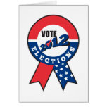 American election USA ribbon tick 2012 Greeting Cards