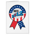 American election USA ribbon tick 2012 Cards