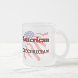 American Electrician Frosted Glass Mug