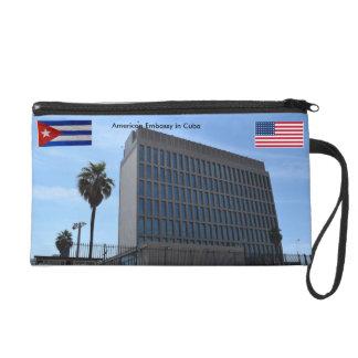 American Embassy in Cuba Wristlet Clutch