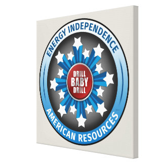 American Energy Independence Stretched Canvas Prints