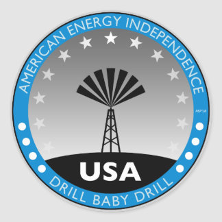 American Energy Independence Round Sticker