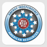 American Energy Independence Square Stickers