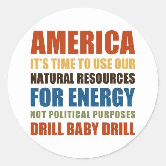 American Energy Round Sticker