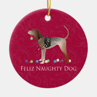 American English Coonhound Christmas Christmas Ornament