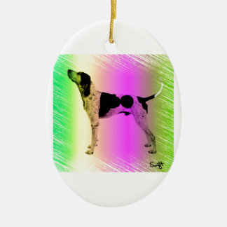 American English Coonhound Christmas Ornament