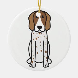 American English Coonhound Dog Cartoon Christmas Ornament
