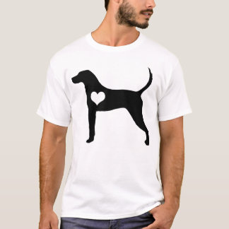 American English Coonhound Heart Mens T-Shirt
