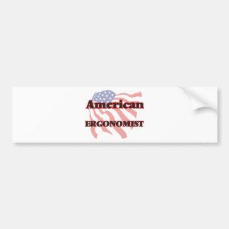 American Ergonomist Bumper Sticker