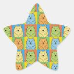American Eskimo Cartoon Pop-Art Star Stickers