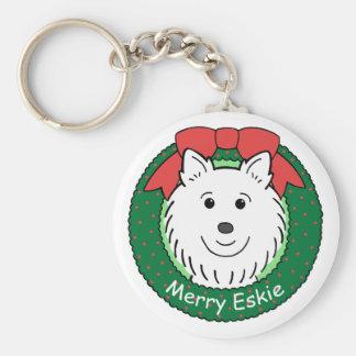 American Eskimo Christmas Key Chains