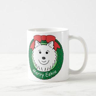 American Eskimo Christmas Coffee Mug