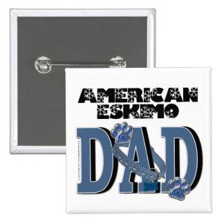 American Eskimo DAD 15 Cm Square Badge