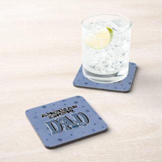 American Eskimo DAD Beverage Coasters