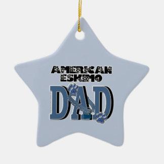 American Eskimo DAD Christmas Tree Ornaments