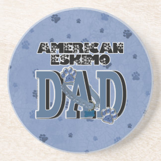 American Eskimo DAD Coasters