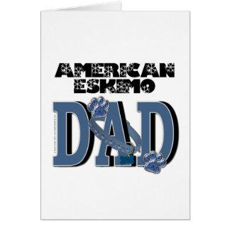 American Eskimo DAD Greeting Cards