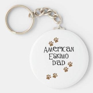 American Eskimo Dad Key Chains