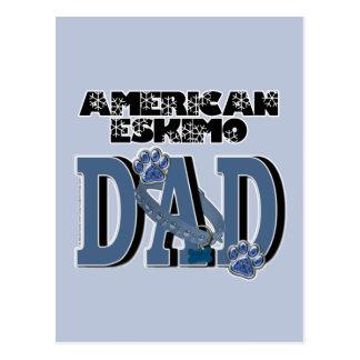 American Eskimo DAD Postcard