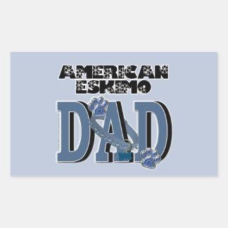 American Eskimo DAD Rectangular Sticker