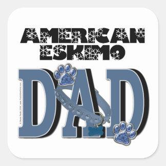 American Eskimo DAD Square Sticker