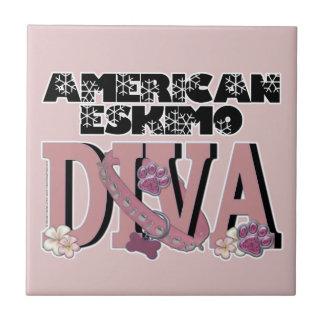 American Eskimo DIVA Ceramic Tiles