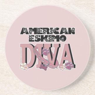 American Eskimo DIVA Drink Coaster