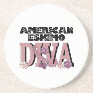 American Eskimo DIVA Drink Coasters