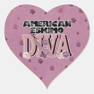 American Eskimo DIVA Heart Sticker