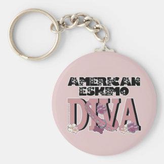 American Eskimo DIVA Key Chains