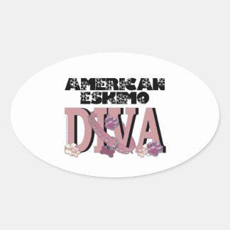 American Eskimo DIVA Oval Sticker