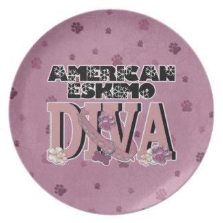 American Eskimo DIVA Party Plate