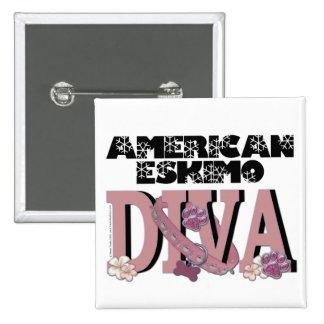American Eskimo DIVA Pinback Button