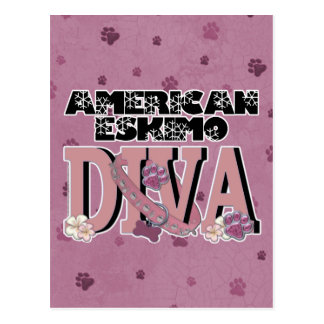 American Eskimo DIVA Postcard